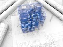 Model van een gebouw Royalty-vrije Stock Foto's