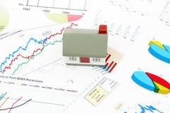 Model van een huis Stock Afbeelding