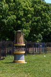 Model van een mijnwerkers` s lamp royalty-vrije stock afbeeldingen