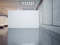 Model van grote witte canvas en bakstenen 3d geef terug Royalty-vrije Stock Afbeeldingen