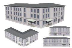 Model van het gebouw stock illustratie illustratie bestaande uit