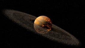 Model van hete planeet vector illustratie