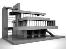 Model van huis stock illustratie