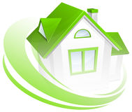 Model van huis met cirkel Royalty-vrije Stock Fotografie