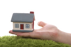 Model van huis op hand Stock Fotografie