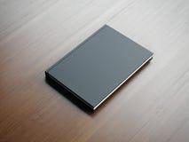 Model van leeg klein zwart boek het 3d teruggeven Royalty-vrije Stock Fotografie