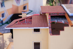 Model van losgemaakt huis stock afbeeldingen