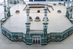 Model van Masjid Al Haram in het Museum stock afbeeldingen
