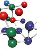 Model van molecule Royalty-vrije Stock Afbeeldingen