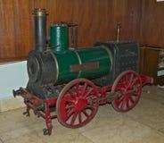 Model van stoomlocomotief op vertoning bij spoorwegmuseum in Belgrado, Servië Royalty-vrije Stock Afbeeldingen