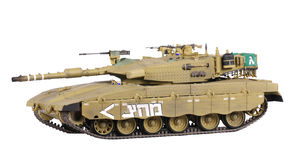 Model van tank Merkava Stock Fotografie