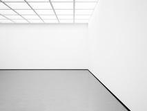Model van witte binnenlandse en concrete vloer 3d Royalty-vrije Stock Foto