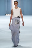 Model Vasilisa Pavlova walks the runway wearing Carolina Herrera Fall 2015 Collection Stock Image