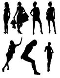 Model Vector Silhouettes Stock Photos