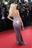 Model Victoria Silvstedt. CANNES, FRANCE - MAY 16: Model Victoria Silvstedt attends 'The Tree Of Life' premiere during the 64th Annual Cannes Film Festival at royalty free stock photos