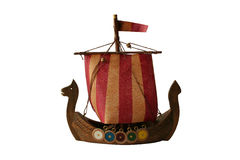 Model of viking boat Stock Photo