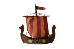 Model of viking boat. Isolated on white background Stock Photo