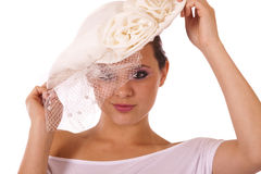 Model in vintage hat Stock Photography