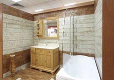 model visningslokaltegelplattor för badrum Royaltyfri Fotografi