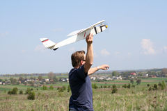 Model vliegtuig Royalty-vrije Stock Afbeelding