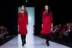Model Walk Runway For OLGA KUNITSYNA Catwalk At Autumn-Winter 2017-2018 Moscow Fashion Week. Stock Photography