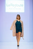 Model walk runway for LA REDOUTE & PLUS SIZE MOSCOW catwalk at Autumn-Winter 2017-2018 Moscow Fashion Week. Plus-size fashion mode Stock Image