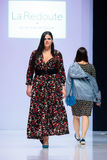Model walk runway for LA REDOUTE & PLUS SIZE MOSCOW catwalk at Autumn-Winter 2017-2018 Moscow Fashion Week. Plus-size fashion mode Stock Images
