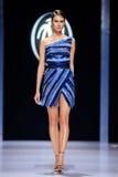 Model walk runway for Valentin Yudaskin catwalk at Spring-summer 2017 Moscow Fashion Week. Royalty Free Stock Images