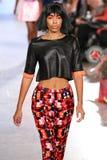 Model walks Alexandra Frida runway at the FTL Moda Spring 2016 Stock Photos