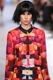 Model walks Alexandra Frida runway at the FTL Moda Spring 2016 Stock Photo