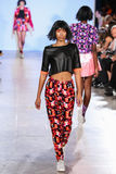 Model walks Alexandra Frida runway at the FTL Moda Spring 2016 Royalty Free Stock Photo