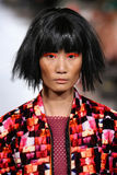 Model walks Alexandra Frida runway at the FTL Moda Spring 2016 Stock Images