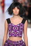 Model walks Alexandra Frida runway at the FTL Moda Spring 2016 Stock Image
