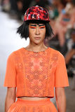 Model walks Alexandra Frida runway at the FTL Moda Spring 2016 Royalty Free Stock Photography