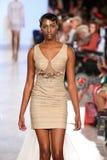 Model walks Archana Korchhar runway at the FTL Moda Spring 2016 Royalty Free Stock Image