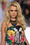 Model walks Carmen Steffens runway at the FTL Moda Spring 2016 Stock Image