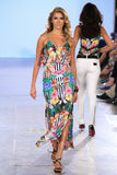 Model walks Carmen Steffens runway at the FTL Moda Spring 2016 Royalty Free Stock Photography