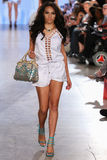 Model walks Carmen Steffens runway at the FTL Moda Spring 2016 Stock Photo