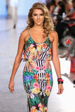Model walks Carmen Steffens runway at the FTL Moda Spring 2016 Stock Images