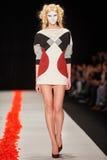 A model walks on the DIMANEU catwalk Royalty Free Stock Image