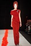 A model walks on the DIMANEU catwalk Stock Photography
