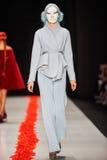 A model walks on the DIMANEU catwalk Stock Images