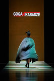 A model walks on the GOGA NIKABADZE catwalk Stock Photography