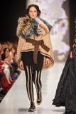 A model walks on the IGOR GULYAEV catwalk Stock Photo