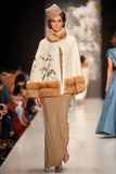 A model walks on the IGOR GULYAEV catwalk Stock Image