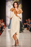 A model walks on the IGOR GULYAEV catwalk Royalty Free Stock Images