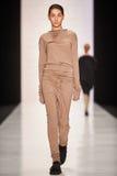 A model walks on the Lena Tsokalenko catwalk Royalty Free Stock Photography