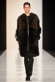 A model walks on the Lena Tsokalenko catwalk Stock Images