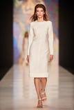 A model walks on the OFERA by Oksana Fedorova catwalk Stock Images