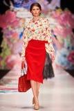A model walks on the OKSANA FEDOROVA catwalk Royalty Free Stock Photography
